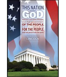 """This nation, under God, shall have a new birth of freedom, and that government of the people, by the people, for the people, shall not peri..."