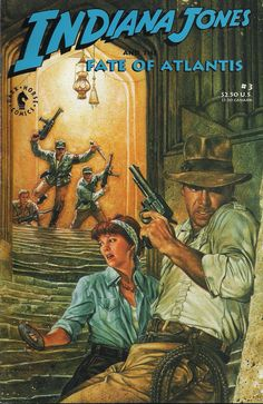 Indiana Jones And The Fate Of Atlantis N°3 (July 1991) - Cover by Dave Dorman