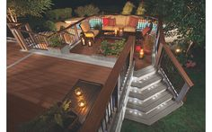 Warm & Cool Deck Makeover featuring Transcend® in Fire Pit & Gravel Path - Trex