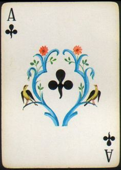 espana imperial fournier playing cards ace of clubs**