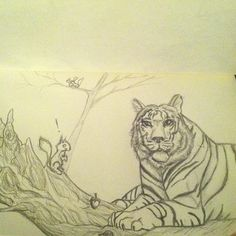 Tiger and squirrel