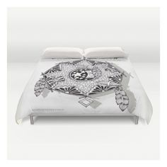 Zentangle Dreamcatcher Duvet Cover ($129) ❤ liked on Polyvore featuring home, bed & bath, bedding, duvet covers, lightweight duvet insert, king duvet insert, cream duvet, queen duvet insert and ivory duvet