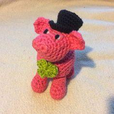 Glücksschweinchen - Glücksschweinchen Rosalie, gehäkelt, Amigurumi - ein Designerstück von Marina-Kubitza bei DaWanda