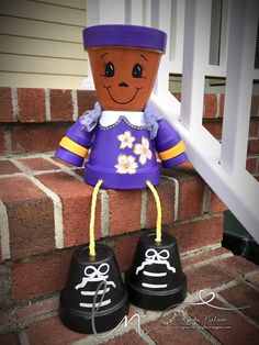 Lynda's Scrappy Place: My Hand Painted Flower Pot People