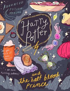Harry Potter and the Half-Blood Prince, an art print by acclaimed North Carolina artist Natalie Andrewson!   For an ongoing Harry Potter series with Geeksboro, local movie theater and coffee shop in Greensboro, NC.