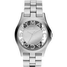 Marc by Marc Jacobs Skeleton MBM3205 -rannekello Marc by Marc Jacobs (365 CAD) ❤ liked on Polyvore featuring marc by marc jacobs