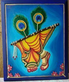 Simple Rangoli Designs Images, Rangoli Border Designs, Colorful Rangoli Designs, Rangoli Designs Flower, Krishna Painting, Krishna Art, Madhubani Art, Madhubani Painting, Art Drawings Sketches Simple