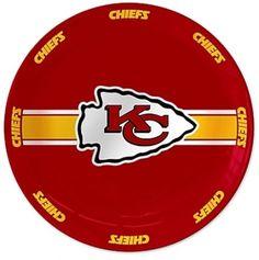 Kansas City Chiefs NFL Serving Plate Ceramic 11-Inch Super Bowl Football Party