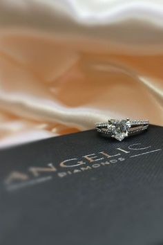Looking for something that's truly one-of-a-kind? Use our special design service to create a bespoke ring for women with a heart-shaped diamond. Heart Diamond Engagement Ring, Heart Shaped Engagement Rings, Elegant Engagement Rings, Wedding Rings, Beautiful Diamond Rings, Heart Shaped Diamond, Diamond Jewellery, Eternity Ring, Bespoke