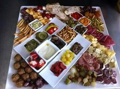 Tapas schaal Tapas, Foodies, Appetizers, Cheese, Drinks, Wedding, Exercises, Salads, Mariage