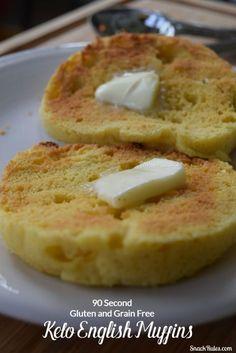 Keto, Grain-Free, Gluten-Free 90 Second English Muffins