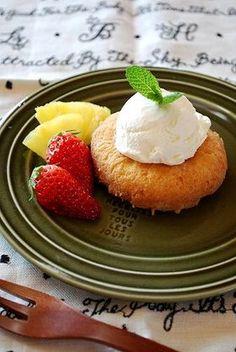 サバラン風ドーナッツアイスパフェ by あさえもん [クックパッド] 簡単 ... Savarin, Pudding, Desserts, Recipes, Food, Meal, Custard Pudding, Deserts, Food Recipes