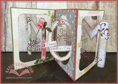 Karen Burniston using the Pop it Ups Rectangle Accordion, Oval Accordion and Paris Edges die sets by Karen Burniston for Elizabeth Craft Designs. Also uses ECD peel-off stickers.