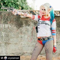 Your fav Villain?  Credit @crystalnoel  : @linnethdelarocha #cosplay #harley #harleyquinncosplay #comics #art #potd #like #follow