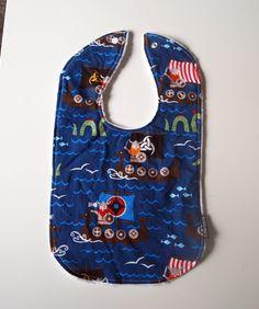 viking Baby bib buccaneer cotton Minky newborn by 3littlerascals, $9.95 @Holly Johnson:  Get some fabric! :)