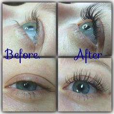 Before and After  Xtreme Eyelash Extensions!! Salon Nv.
