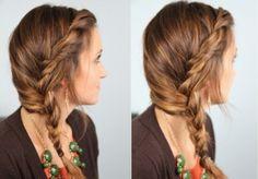Subtle Twist into Side Braid | Easy Hairstyles | Hairstyles, Braids & Video Tutorials | Cute Girls Hairstyles