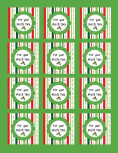 For your Mistle Toes – Favor Tag « S and O Bows