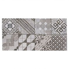 Castel Patchwork Gray Porcelain Tile - 12in. x 24in. - 100211051   Floor and Decor