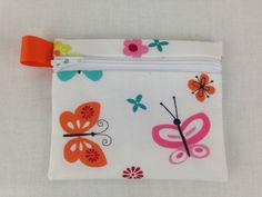 Butterfly Zipper Coin Purse, Credit Card, Earbud, Music Player Case by NancyPKdesigns on Etsy