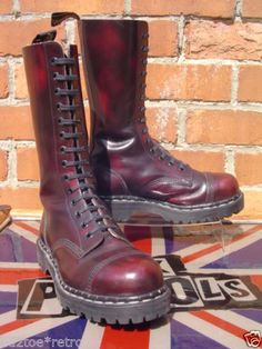 Vintage-Tredair-14-hole-capper-boots-UK-6-Skinhead-Punk-Dr-Martens-IMMACULATE
