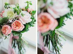 David Austen roses bouquet David Austen Roses, Rose Bouquet, Our Wedding, Table Decorations, Weddings, Flowers, Home Decor, Bouquet Of Roses, Decoration Home