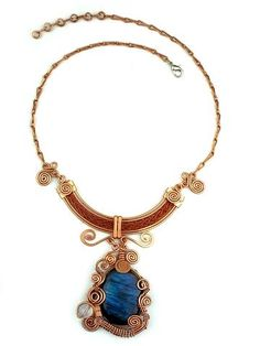 """Wire Wrap Necklace: """"Queen Isis"""""""