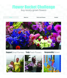 Take the Flower Bucket Challenge!  Buy locally-grown flowers from a grower or florist in your area!