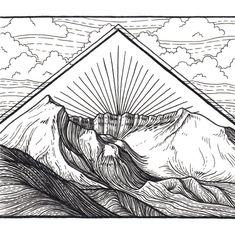 Mountain Art Giclee Print Mount Saint Helens by LizzyDaltonArt