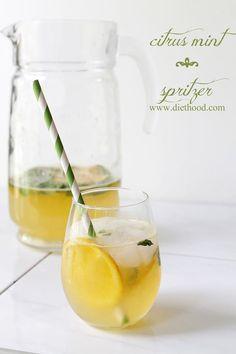 Citrus Mint Spritzer: A refreshing Citrus Mint Spritzer made with mint, fresh orange juice, lemon juice, and lime soda.