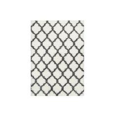 nuLOOM Modern Trellis Shag Rug ($100) ❤ liked on Polyvore featuring home, rugs, nuloom area rugs, trellis area rug, trellis rug, nuloom rugs and nuloom
