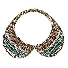 collar necklace, peter pan style