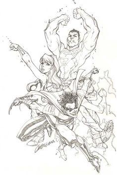Teen Titans by J. Scott Campbell