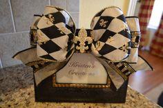 Elegant Diamond Ribbon And Rhinestone Fleur by kristenscreations