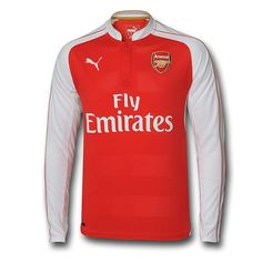 Puma Arsenal Home  15- 16 Long Sleeve Replica Soccer Jersey (High Risk Red  White) f4fa504a1