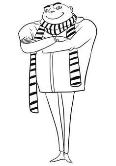 Dibujo para colorear de Gru (mi villano favorito) (nº 1)
