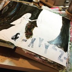 Background is certainly coming together faster than anticipated #strombohundo .@thestromboshow #art #artjournal