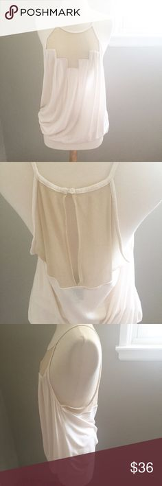 Anthropologie Deletta Tank Preloved, but in Good Condition/ Feel free to ask any questions, make a reasonable offer, or add to a bundle for 15% off 😃 Color: The color of the tank is cream, although it does not show well on photo. Anthropologie Tops Tank Tops