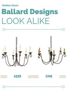 Get the look of the Ballard Designs Cossette Chandelier for much less.