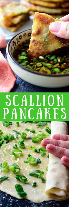 Vegan scallion pancakes are an easy vegan appetizer or side dish. Plus, they're fun to make!