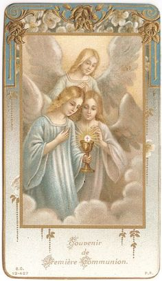 French Antique Holy Prayer Card