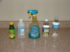 DIY non toxic glass cleaner :)