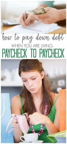 How to pay down debt when you are living paycheck to paycheck! Money tips and ideas to get out of debt fast.