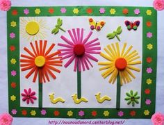 diy child spring with recovery equipment activities for kindergarten and school, Mar. Diy Crafts To Do, Craft Projects, Crafts For Kids, Arts And Crafts, Flower Crafts, Flower Art, Art Flowers, Diy Ostern, Art N Craft
