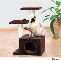 "Trixie 28"" Plush Valencia Cat Tree / Overstock"