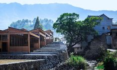 China's rural revolution: the architects rescuing its villages from oblivion | Architecture | The Guardian China Architecture, Architecture Design, Wooden Architecture, Tofu, Sawtooth Roof, Chinese Mountains, Tsinghua University, Dna Design, Covered Walkway