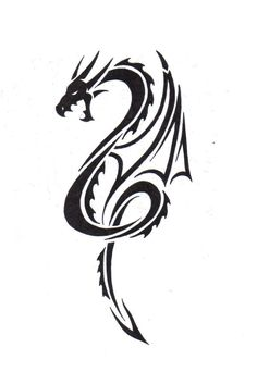 Tribal Dragon by LBalch86.deviantart.com