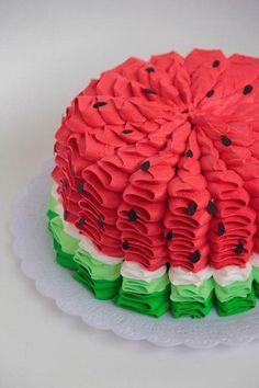 Watermelon Mini Cakes, Cupcake Cakes, Watermelon Birthday Parties, Summer Cakes, Salty Cake, Novelty Cakes, Savoury Cake, Pretty Cakes, Creative Cakes