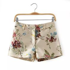 Europe station 2015 summer new women's fashion casual high-quality printing waisted shorts shorts female XW