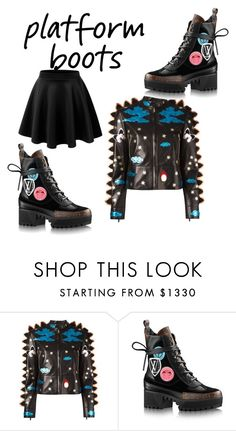 """Platform Boots"" by cathiebrilliance ❤ liked on Polyvore featuring Valentino"